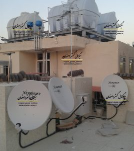 نصب ماهواره مرکزی مجتمع مسکونی اصفهان