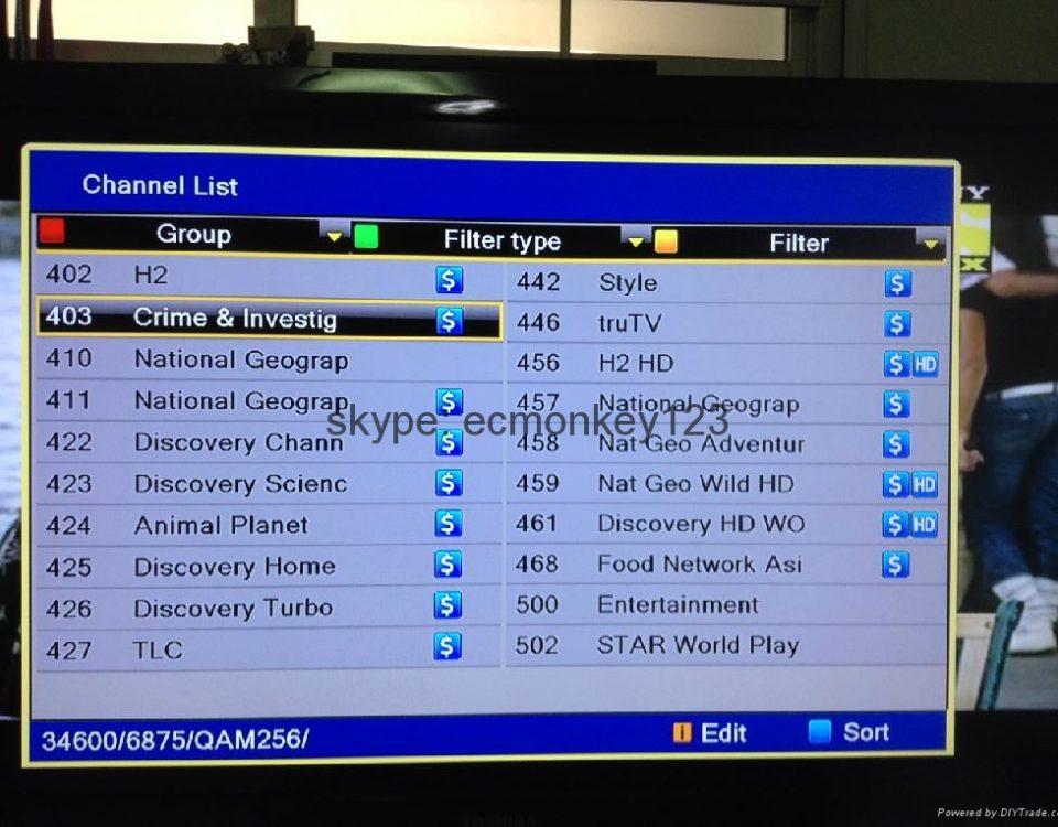 مرتب کردن شبکه های تلوزیونی
