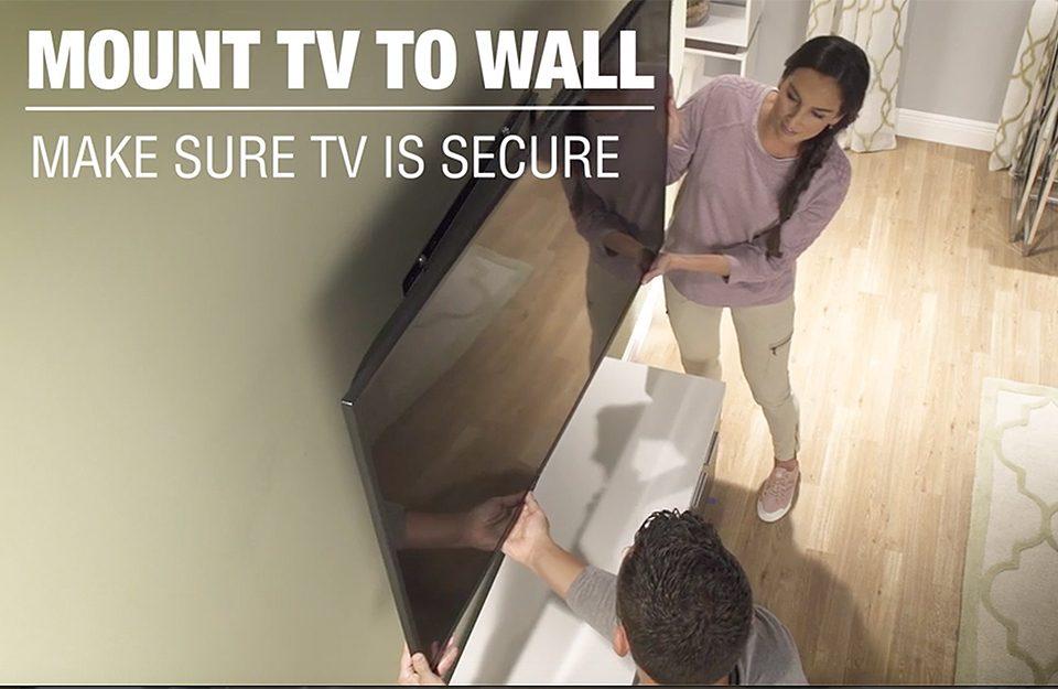 9- جایگذاری تلوزیون بروی دیوار